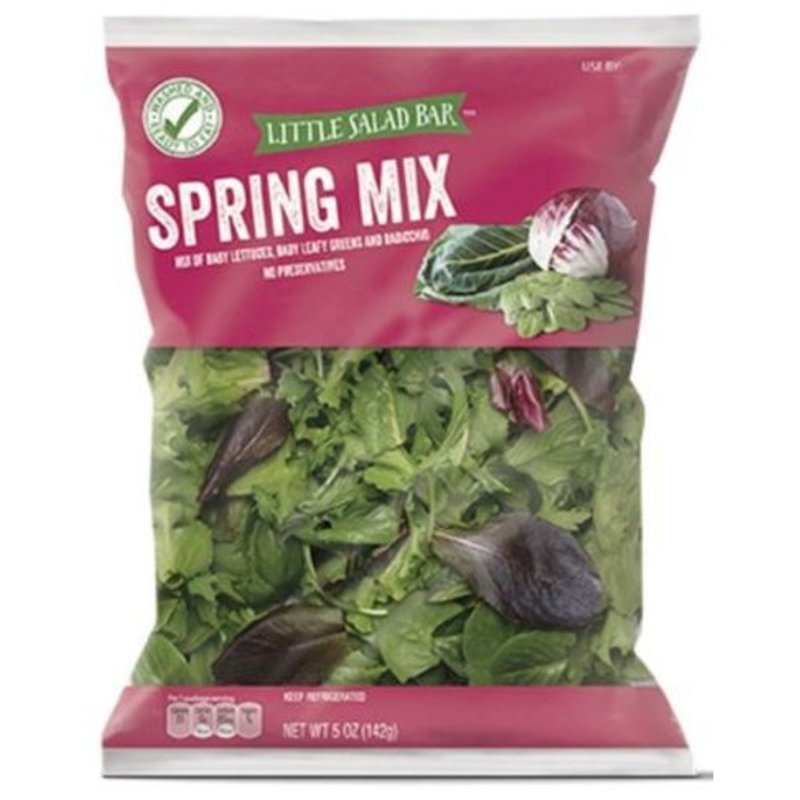Little Salad Bar Spring Mix Of Baby Lettuces, Baby Leafy Greens And Radicchio