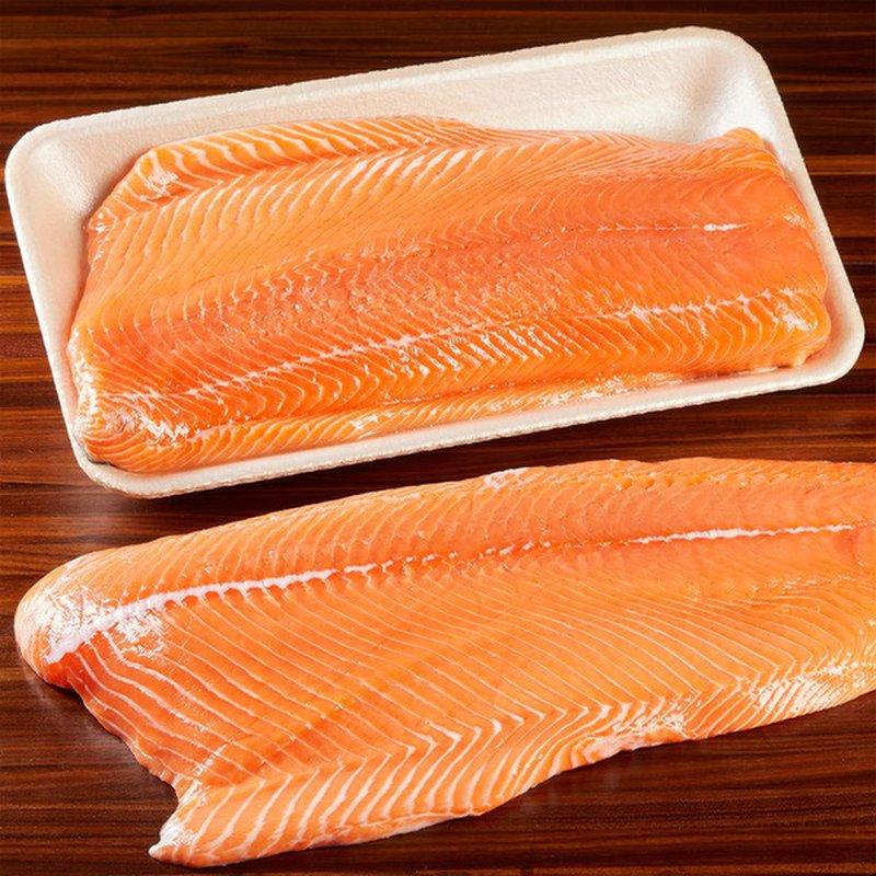 Fresh Troll Caught Fresh Troll Caught Wild King Salmon Fillet Per Lb.