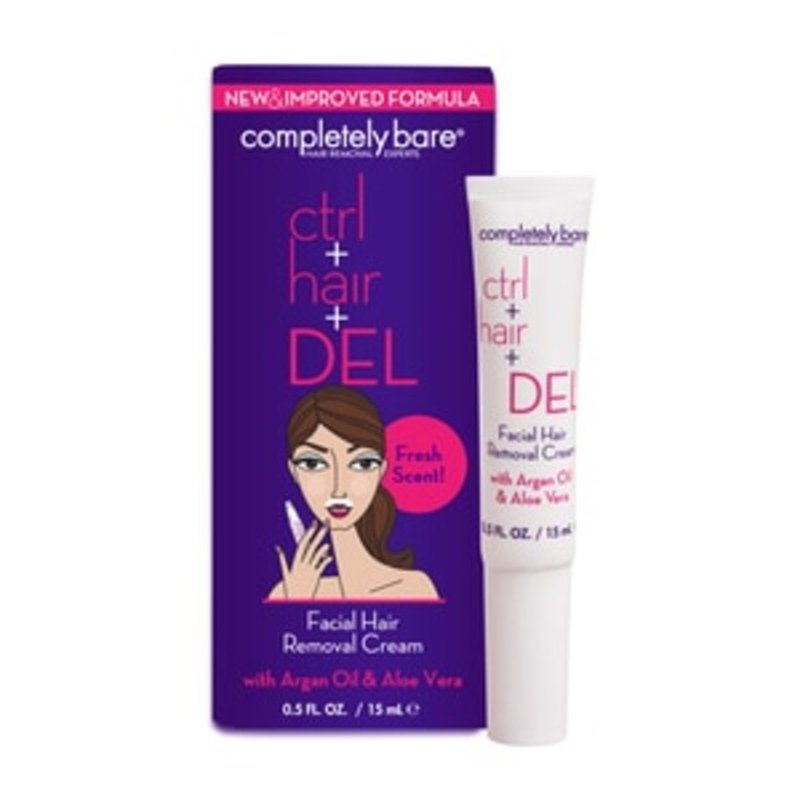 Completely Bare Facial Hair Removal Cream Fresh Scent 0 5 Oz
