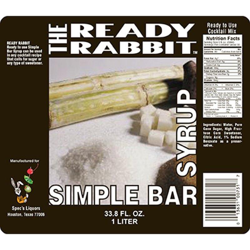 Ready Rabbit Simple Bar Syrup