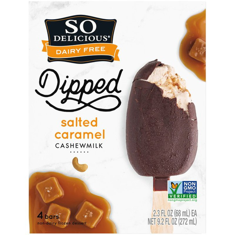 So Delicious Dairy Free Dipped Salted Caramel Cashewmilk Non Dairy Dessert