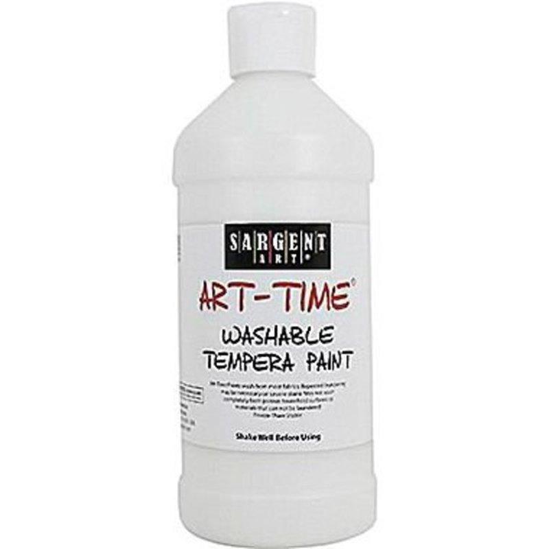 Sargent Art White Art Time Washable Tempera Paint