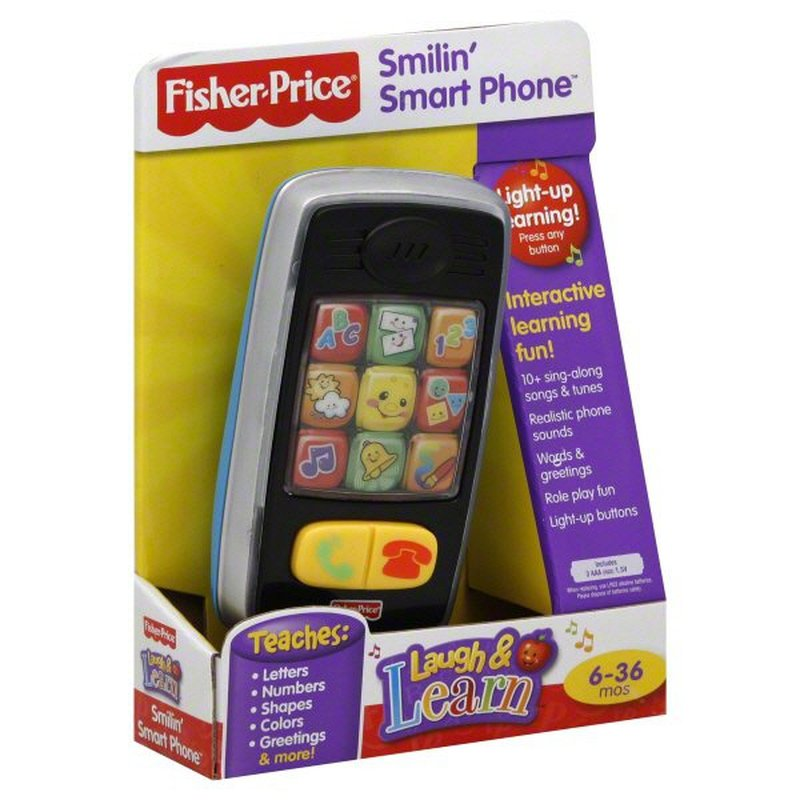 Fisher-Price Laugh & Learn Smilin' Smart Phone for 6-36 Months