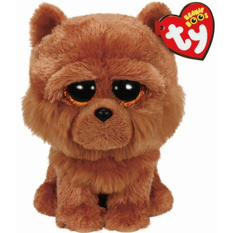 Ty Beanie Boo's Regular Brown Barley Chow Dog