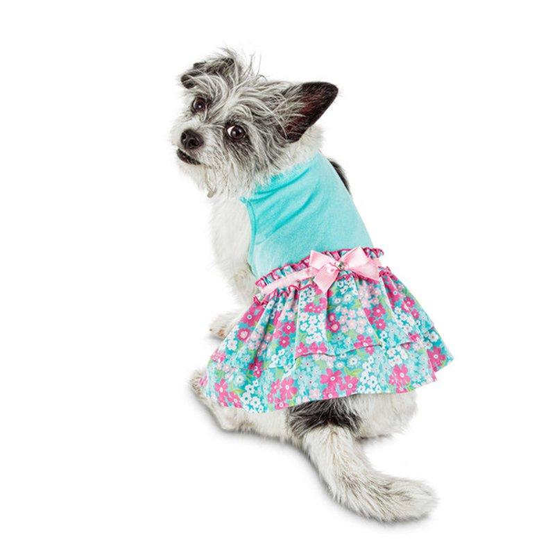 Bond Small Blue Floral Ruff Dress