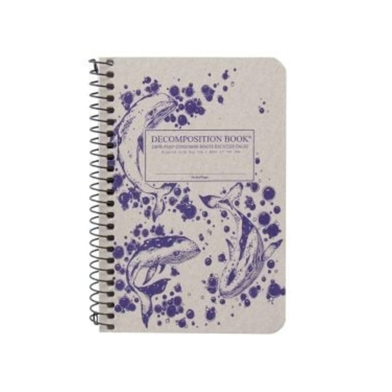 Decomposition Humpback Whales Pocket Coil Book