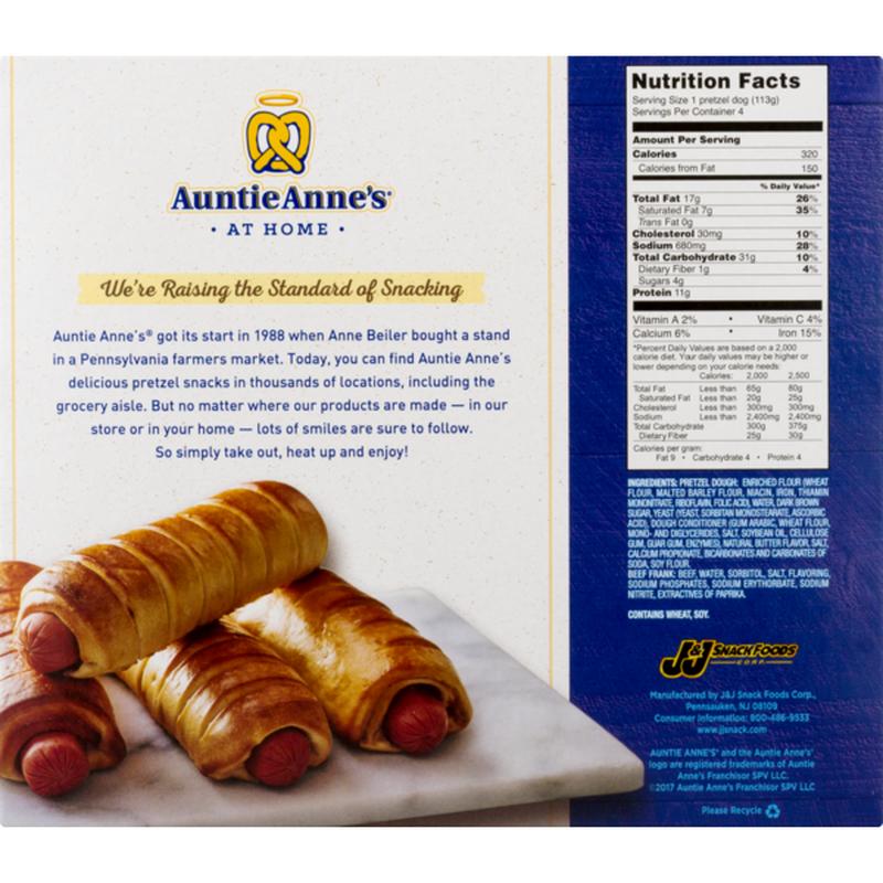 Auntie Anne S Classic Pretzel Dogs 16 Oz Instacart