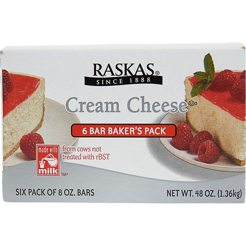 Raskas Cream Cheese 6/8-oz