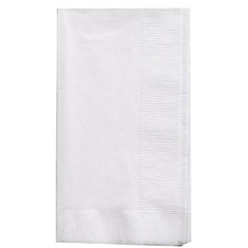 Touch of Color White Dinner Napkins, 2 Ply