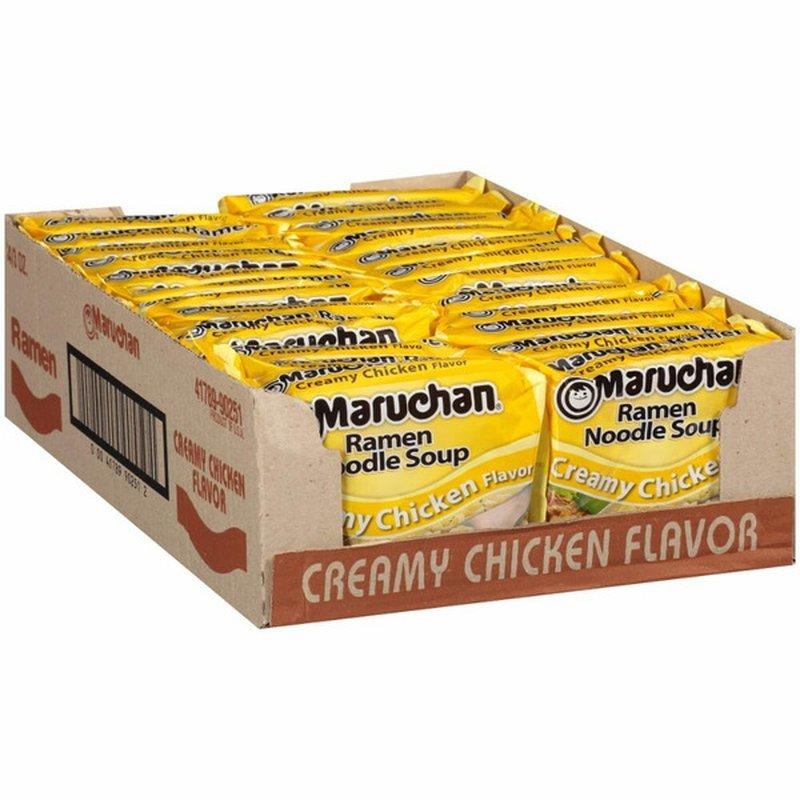 Maruchan 24 Pack Creamy Chicken Ramen Noodle