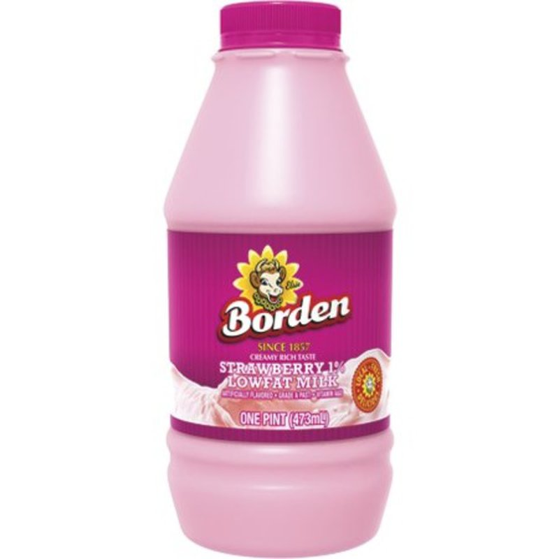 Borden Strawberry 1% Low Fat Milk