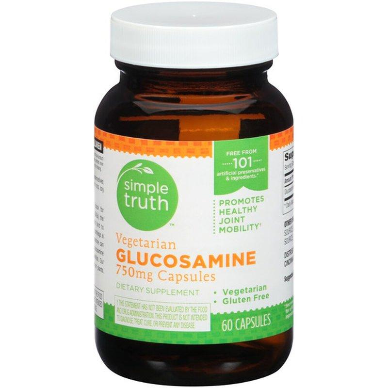 Simple Truth Vegetarian Glucosamine 750 mg Capsules