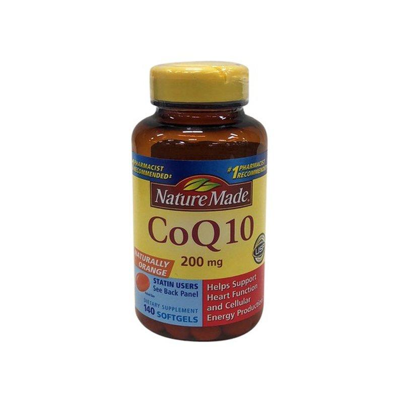 Nature Made CoQ10 200 mg Softgels (140 ct) - Instacart