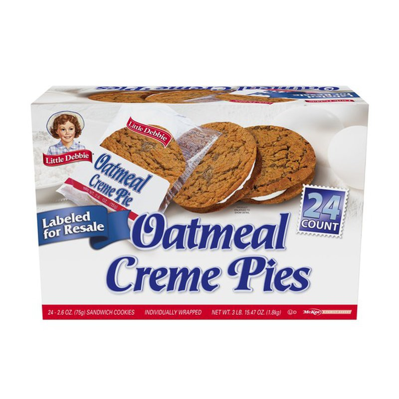 Little Debbie Club Pack Snack Cakes, Oatmeal Creme Pies