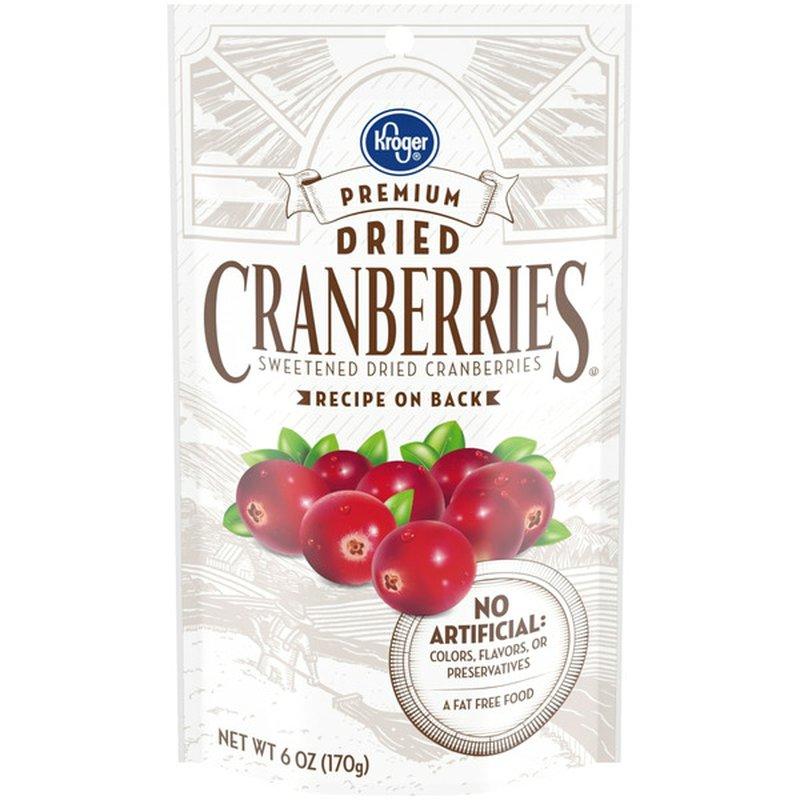 Kroger Premium Dried Sweetened Cranberries