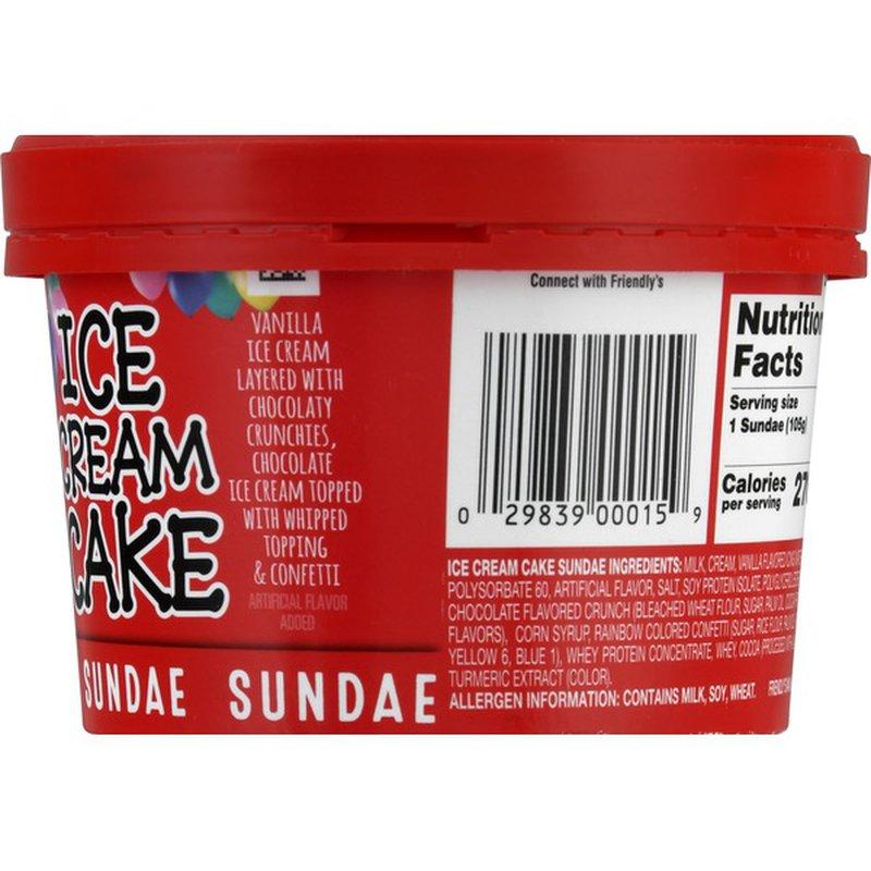 Friendly's Sundae, Ice Cream Cake