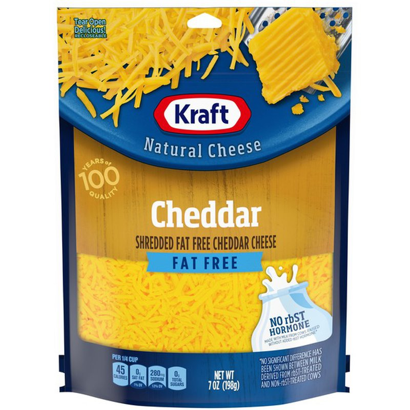kraft fat free natural cheddar cheese 7 oz from lunardi's markets  instacart