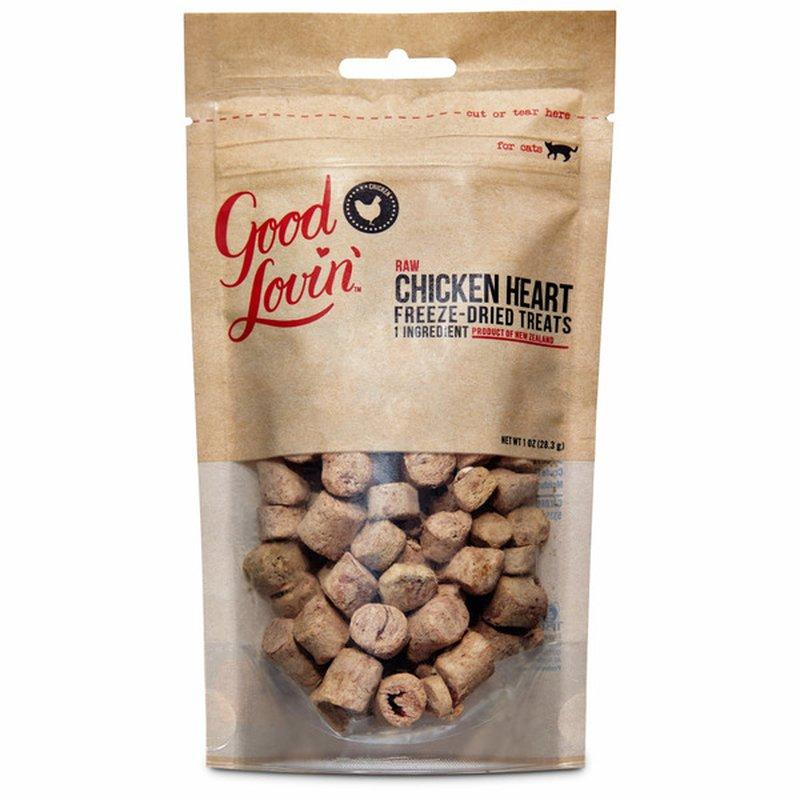 Good Lovin' Raw Chicken Heart Freeze-dried Treats For Cats