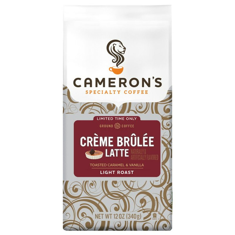 Cameron's Specialty Coffee Light Roast Creme Brulee Latte Toasted Caramel & Vanilla 100% Specialty Grade Arabica Ground Coffee