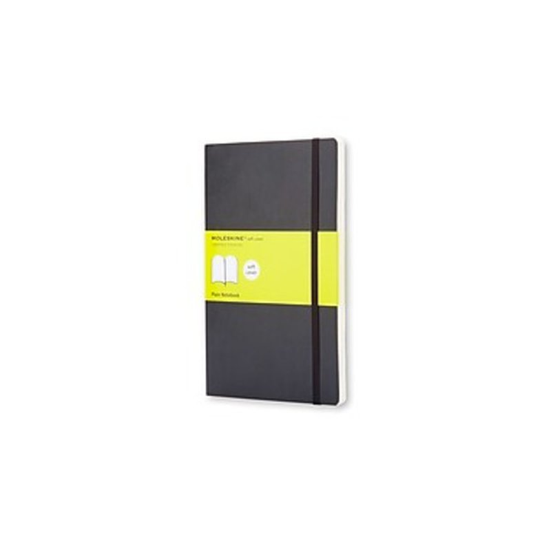 Moleskine Unlined Journal Large Black Softcover