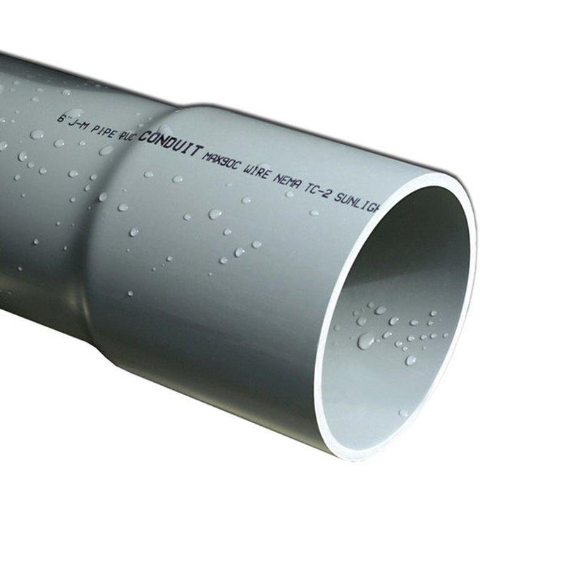 "Cantex 1-1/4"" Diameter x 10' Length PVC Electrical Conduit"