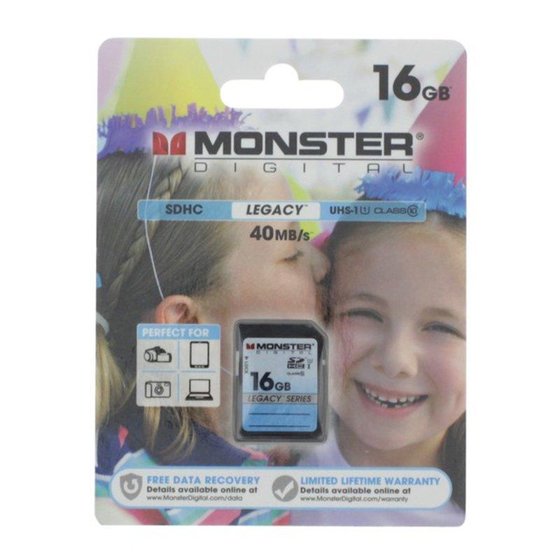 Monster Energy Digital Media Legacy SD Memory Card, 16 Gb