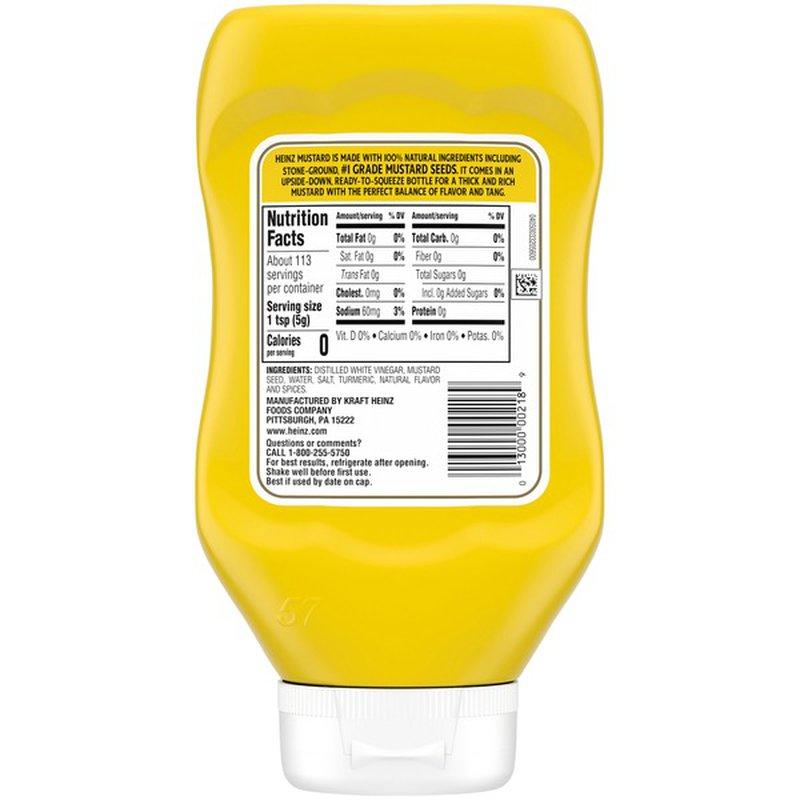 Heinz Yellow Mustard (20 oz) from ShopRite - Instacart