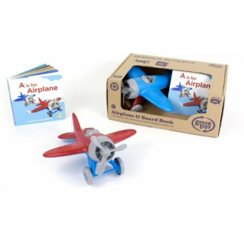 Green Toys Airplane & Board Book Set Toy