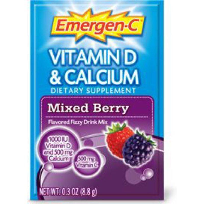 Emergen-C Vitamin D & Calcium Dietary Supplement Mixed Berry Flavored Fizzy Drink Mix