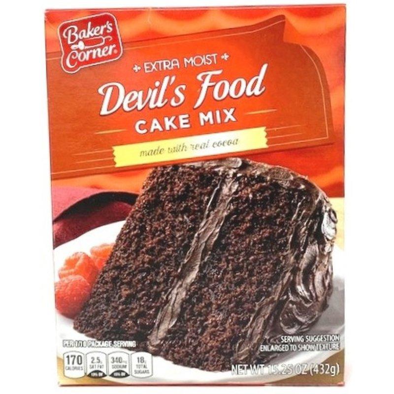 Baker's Corner Devils Food Cake Mix