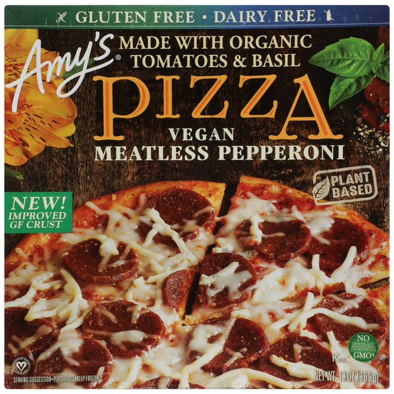 Amy's Kitchen Vegan Meatless Pepperoni Made With Organic Tomatoes & Basil Pizza