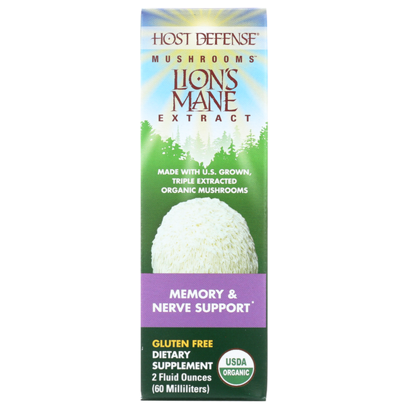 Host Defense Lion's Mane Mushrooms Extract for Memory & Nerve Support