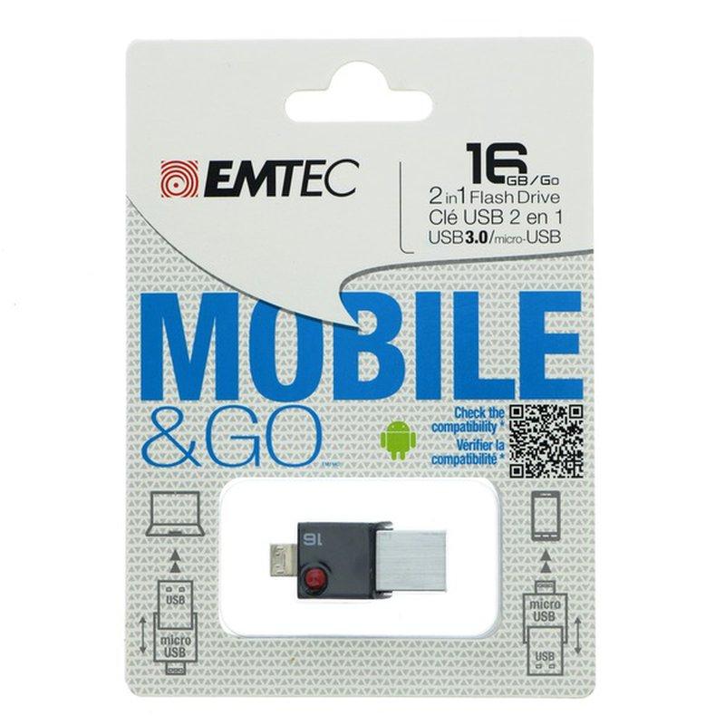 Emtec 3.0 OTG T200 16 GB Flash Drive USB
