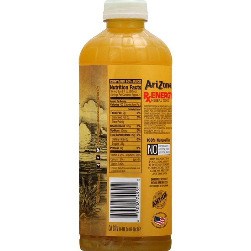 AriZona Herbal Tonic, RX Energy (34 oz) - Instacart