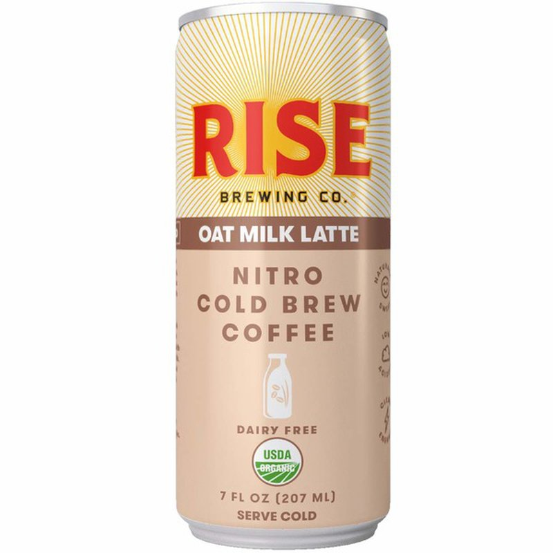 Rise Brewing Co. Vegan & Dairy Free Oat Milk Nitro Cold Brew Latte