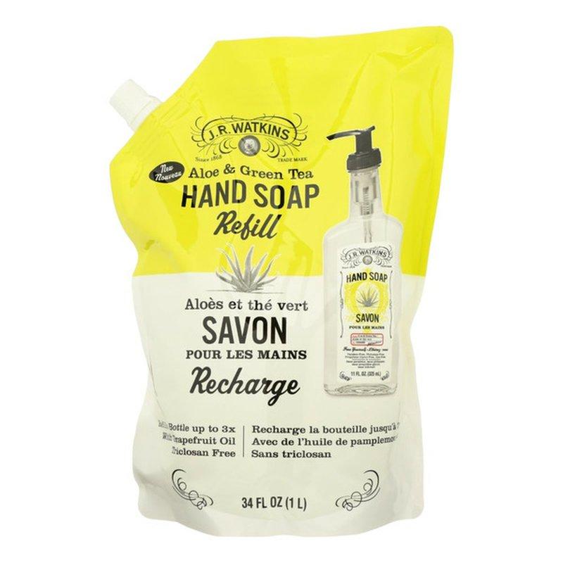 J.r. Watkins Hand Soap Refill Gel, Aloe & Green Tea