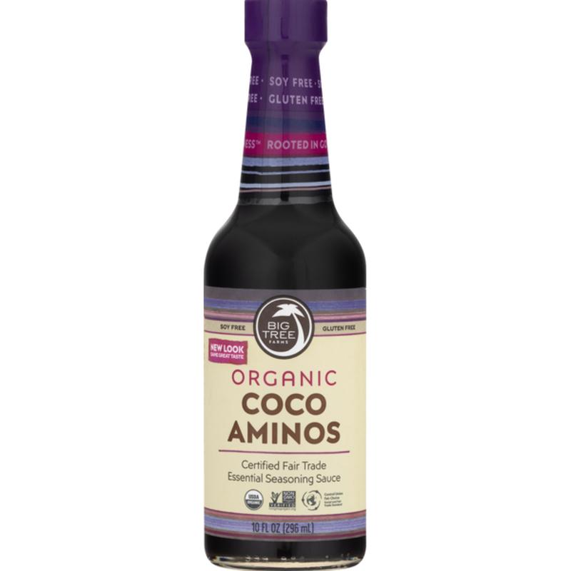 Big Tree Farms Seasoning Sauce, Essential, Organic, Coco Aminos, Bottle