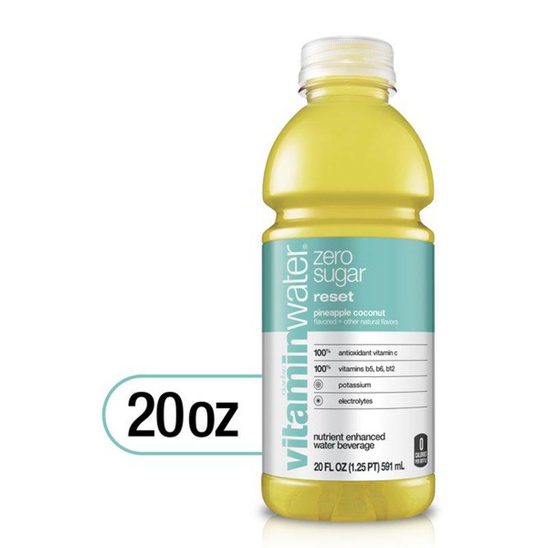 vitaminwater zero Reset, Electrolyte Enhanced Water W ...