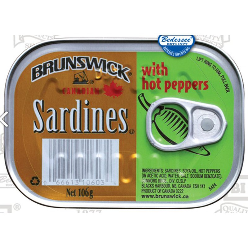 Brunswick Sardines With Hot Peppers