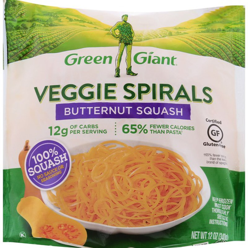Green Giant Veggie Spirals, Butternut Squash