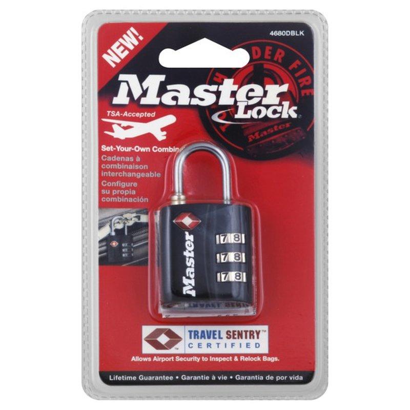 Master Lock Padlock, Set-Your-Own Combination