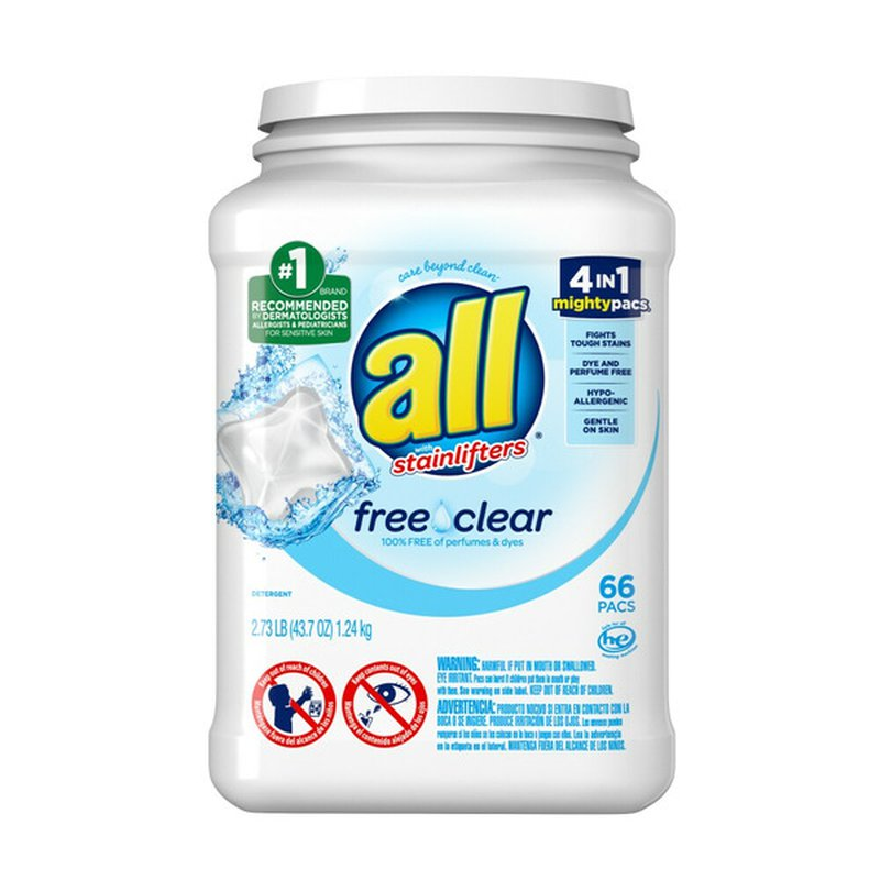 All Free & Clear Liquid Laundry Detergent Mighty Pacs