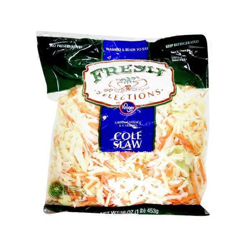 Kroger Fresh Selections Cole Slaw, Green Cabbage & Carrots