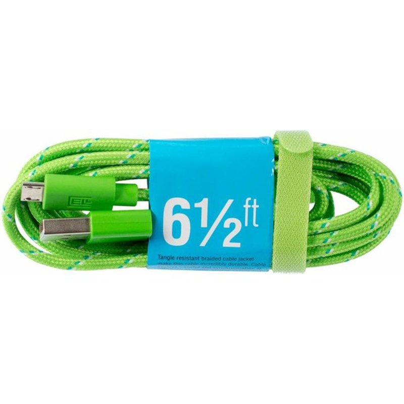 Cell Candy Green Blue Braided Charge & Sync USB to Micro USB Cable