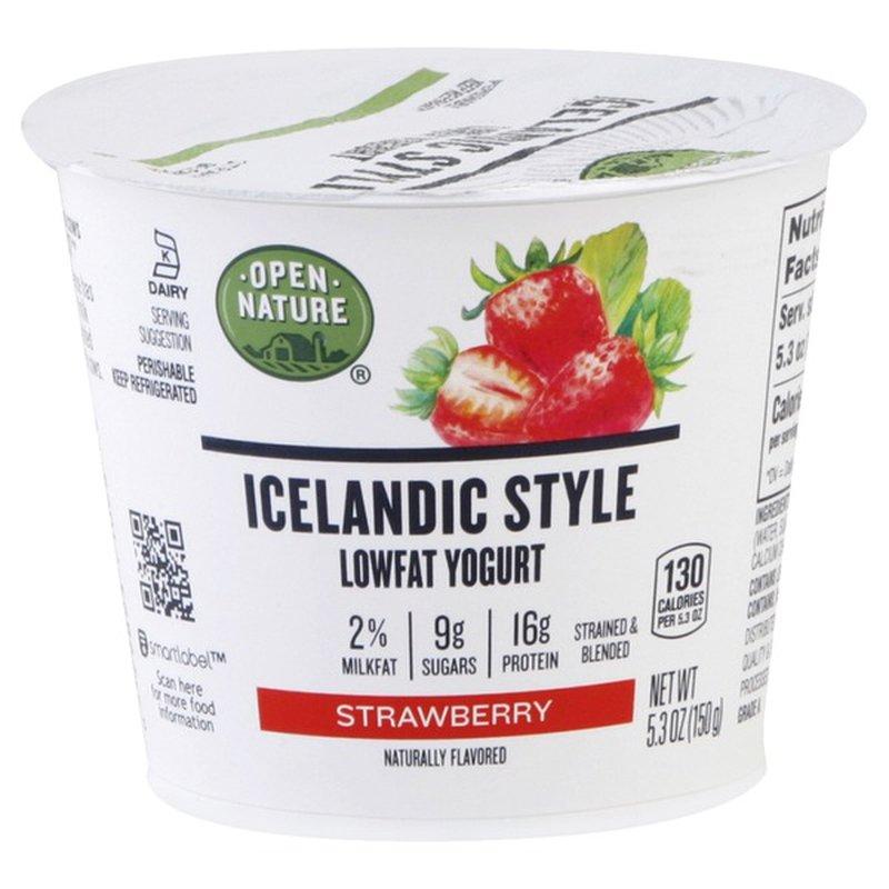 Open Nature Icelandic Low-Fat Strawberry Yogurt