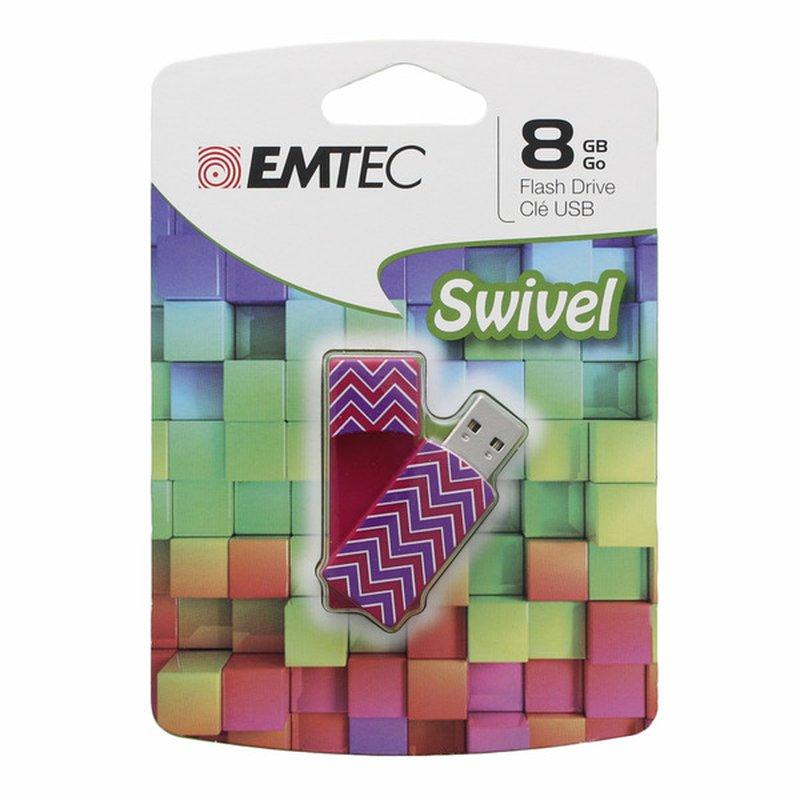 Emtec Swivel Series 8 Gb Usb 2.0 Flash Drive