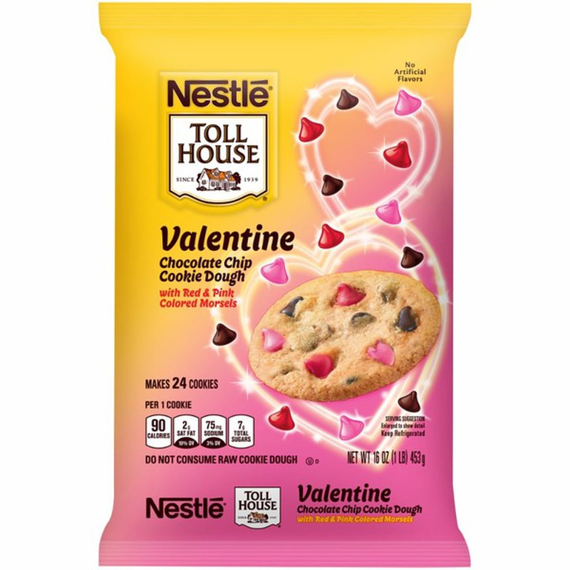 Toll House Valentine Chocolate Chip Cookie Dough Cookie Dough