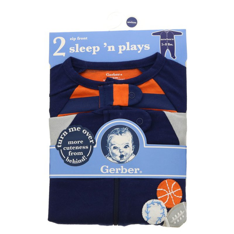Gerber Blue & Orange Sports Theme Sleep & Play