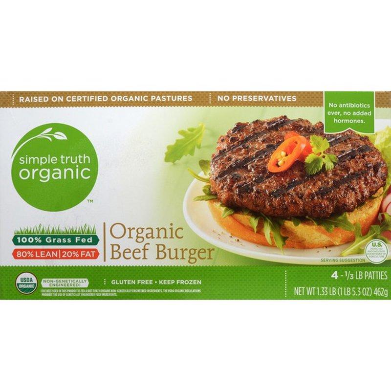Simple Truth Grass Fed Organic Beef Burger