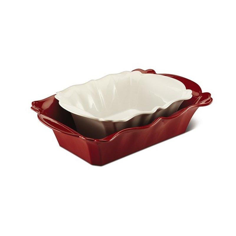 Crofton Red White Ceramic Baking Dish Set Each Instacart